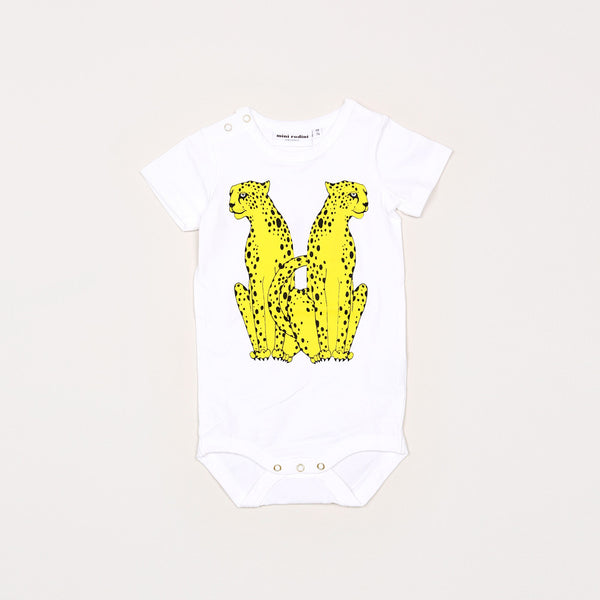 Cheeta Short Sleeve Body - White