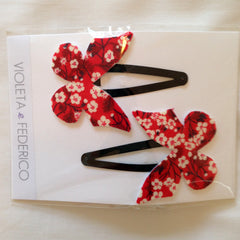 Clips Mariposa - Little Japan Red