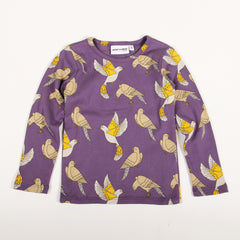 Doves Long Sleeve Tee - Purple
