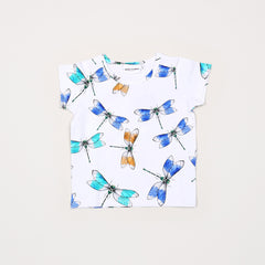 Dragonfly Short Sleeve Tee - White