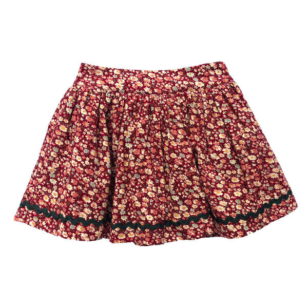 Eyzie Skirt - Red Cord Floral