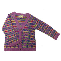 Fairisle Cardigan - Lilac Multi