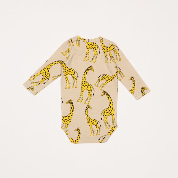 Giraffe Long Sleeve Body - Beige