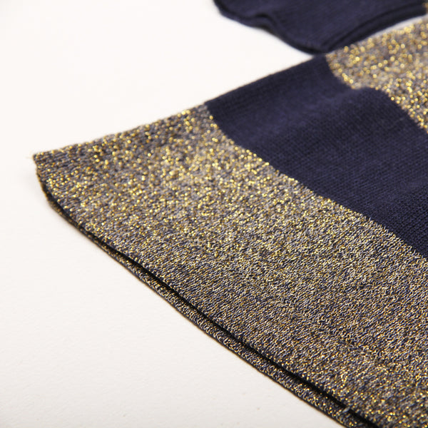 Glitter Dress - Dark Blue/Gold