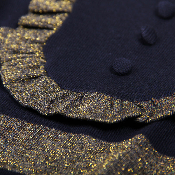 Glitter Sweater - Dark Blue/Gold