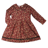 Goldilocks Dress - Red Cord Floral