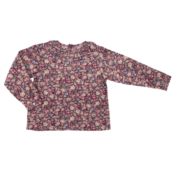 Grace Shirt - Red Floral
