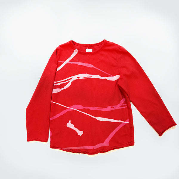 Graffiti Long Sleeve - Tomato