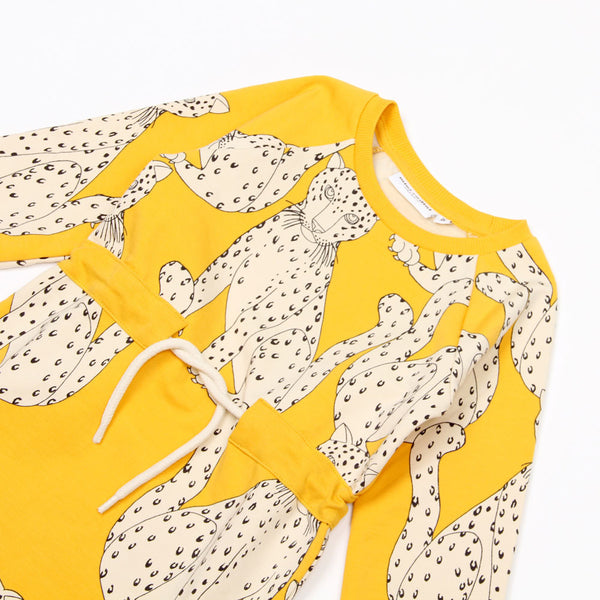Snow Leopard Dress - Yellow