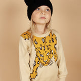 Snow Leopard Sweater - Beige