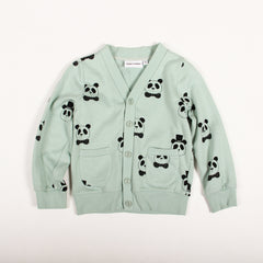 Panda Cardigan - Light Green
