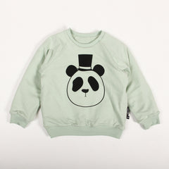 Panda Reversable Sweatshirt - Light Green