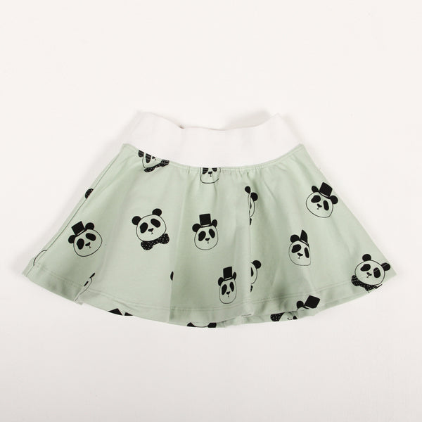 Panda Skirt - Light Green