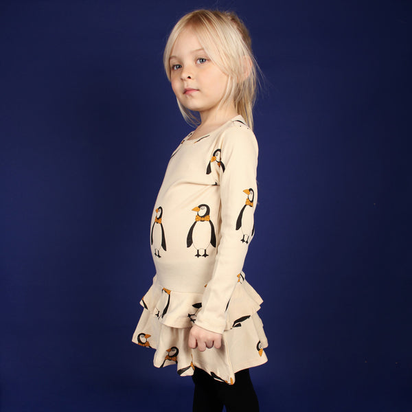 Penguin Dress - Beige