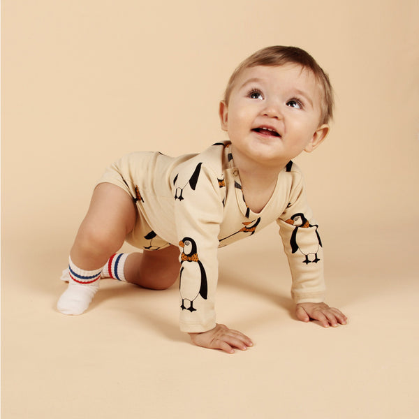 Penguin Long Sleeve Body - Beige