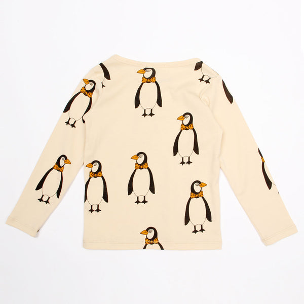 Penguin Long Sleeve Tee - Beige
