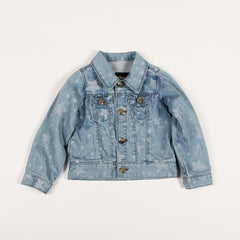 Star Denim Jacket - White/Blue