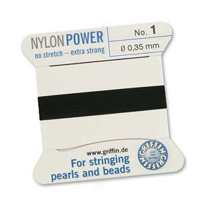 Griffin Nylon Black 2 meter card size 0
