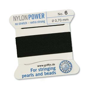 Griffin Nylon Black 2 meter card size 6