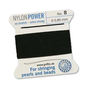 Griffin Nylon Black 2 meter card size 8