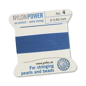 Griffin Nylon Blue 2 meter card size 4