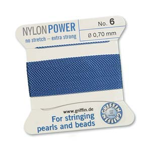 Griffin Nylon Blue 2 meter card size 6