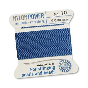 Griffin Nylon Blue 2 meter card size 10