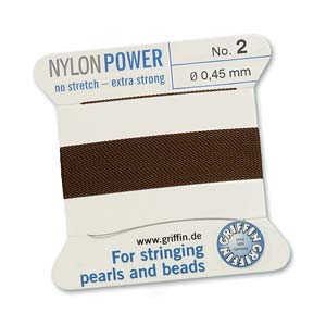 Griffin Nylon Brown 2 meter card size 2