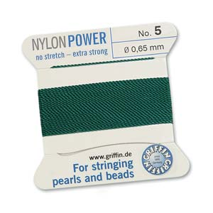 Griffin Nylon Green 2 meter card size 5