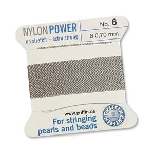 Griffin Nylon Grey 2 meter card size 6