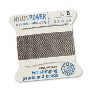 Griffin Nylon Grey 2 meter card size 8