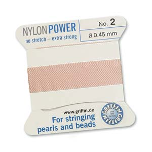Griffin Nylon Light Pink 2 meter card size 2