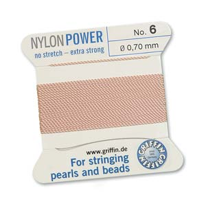 Griffin Nylon Light Pink 2 meter card size 6