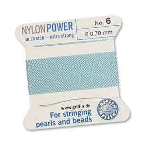 Griffin Nylon Turquoise 2 meter card size 6
