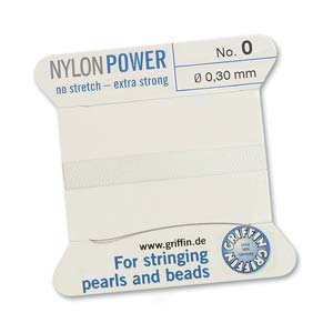 Griffin Nylon White 2 meter card size 0