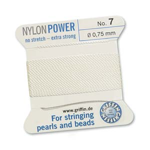 Griffin Nylon White 2 meter card size 7