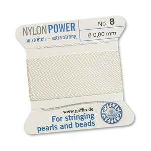 Griffin Nylon White 2 meter card size 8