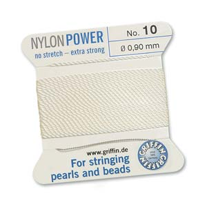 Griffin Nylon White 2 meter card size 10