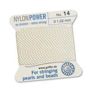 Griffin Nylon White 2 meter card size 14