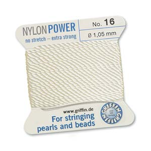 Griffin Nylon White 2 meter card size 16