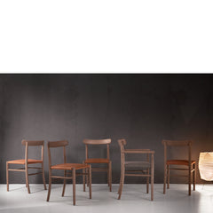 Lightwood chair in oak with leather seat