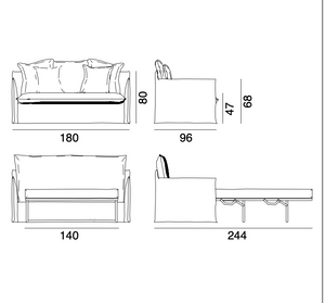 GHOST 13 & 11 Sofa beds