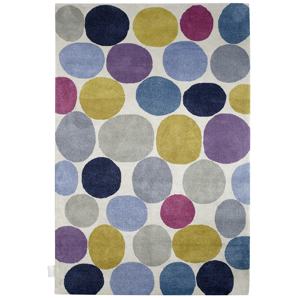 Pebbles Hand Knotted Platinum Rug