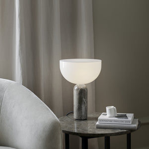 Kizu Table Lamp - Gris du Marais Marble