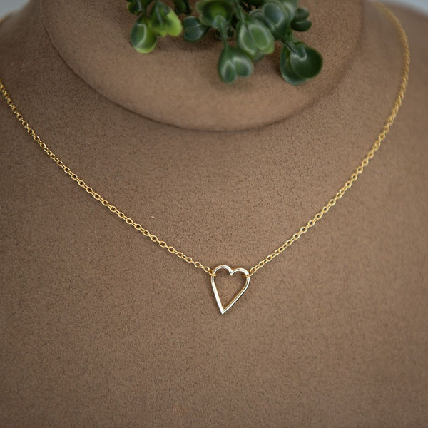 Sideways Heart Necklace: available in silver, gold, and rose gold. - TwoTwentyTwo Market