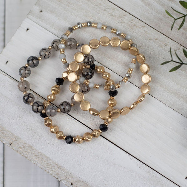 Piper Beaded Bracelet Stack