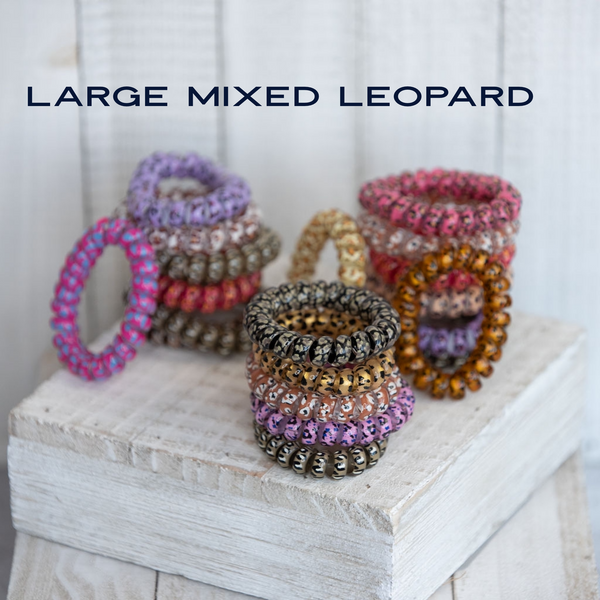 Mixed Leopard Large Lauren Lane Hair Coils