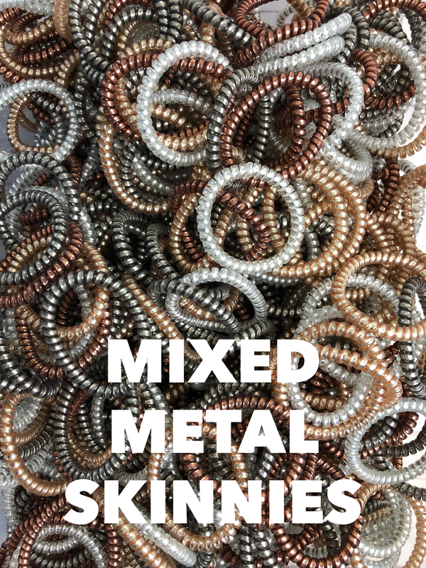 Skinny Mixed Metallics Lauren Lane Hair Coils: Set of 5