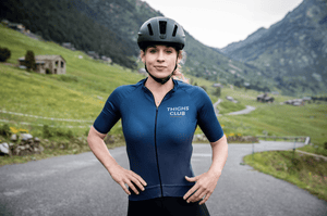 Women's Navy Grey Cycling Jersey