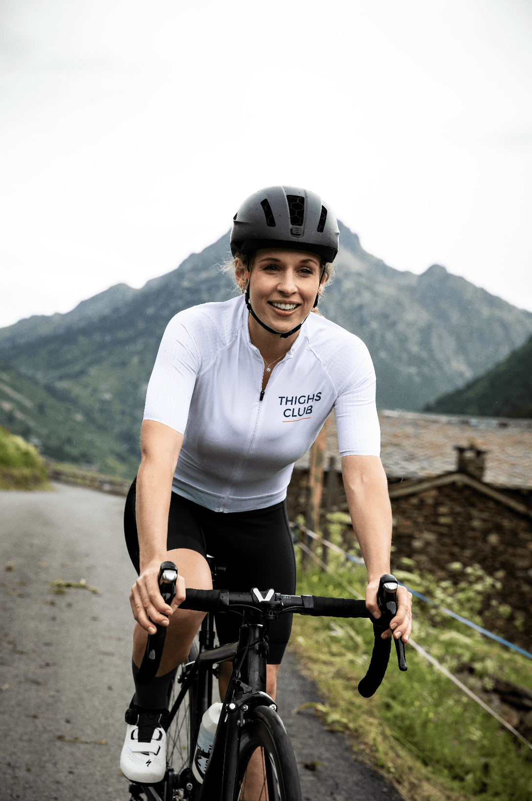 Women's White Cycling Jersey